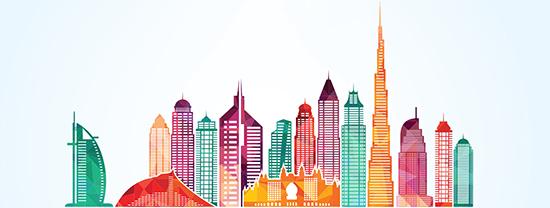 Dubai skyline, international recruitment specialist, 7 Dimensions recruitment